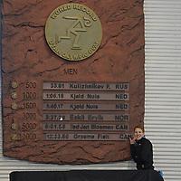SPEEDSKATING: 15-02-2020, Utah Olympic Oval, ISU World Single Distances Speed Skating Championship, World Record 10.000m Men, 12:33,86, Graeme Fish (CAN), ©photo Martin de Jong
