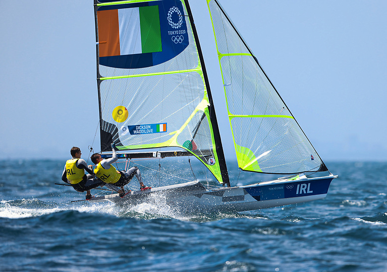 The Olympic sailing team including Robert Dickson and Sean Waddilove (pictured above) were welcomed home from Tokyo at Dun Laoghaire