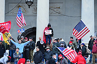 Washington, DC - January 6, 2021: Thousands of protesters in support of President Donald Trump surround the U.S. Capitol building January 6, 2021 as Congress was in session to accept the electors of the November 3 presidential election.  (Photo by Don Baxter/Media Images International)