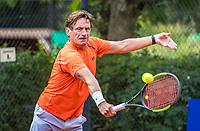 Hilversum, The Netherlands,  August 20, 2021,  Tulip Tennis Center, NKS, National Senior Tennis Championships, Men's single 55+, Hans van den Brande (NED)<br /> Photo: Tennisimages/Henk Koster
