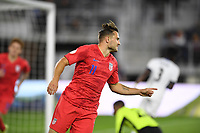 WASHINGTON, D.C. - OCTOBER 11: Jordan Morris #11 of the United States celebrates his goal with teammates during their Nations League game versus Cuba at Audi Field, on October 11, 2019 in Washington D.C.