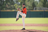 San Francisco Giants relief pitcher John Russell (75) delivers a pitch to the plate during an Instructional League game against the Kansas City Royals at the Giants Training Complex on October 17, 2017 in Scottsdale, Arizona. (Zachary Lucy/Four Seam Images)