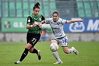 Martina Lenzini of Sassuolo and Ana Jelencic of Hellas Verona  compete for the ball during the women Serie A football match between US Sassuolo and Hellas Verona at Enzo Ricci stadium in Sassuolo (Italy), November 15th, 2020. Photo Andrea Staccioli / Insidefoto