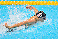 July 28, 2012: DANA VOLLMER of USA competes in women's 100m butterfly semifinal at the Aquatics Center on day one of 2012 Olympic Games in London, United Kingdom.