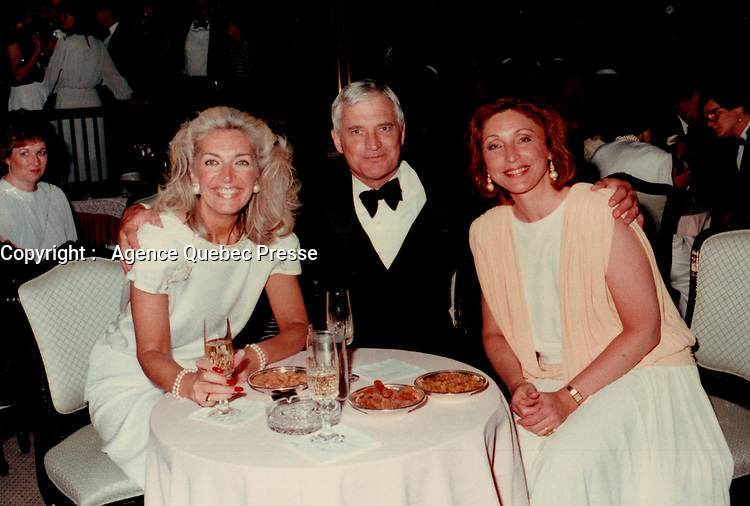 soiree Parti Liberal du Canada - John Turner<br /> , 1985<br /> <br /> <br /> Photo : Agence Quebec Presse