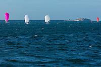 France, Manche (50), Cotentin, Cherbourg, rade de Cherbourg , Voiliers et le  Fort de l'Est // France, Manche, Cotentin, Cherbourg,Cherbourg Harbour (French rade de Cherbourg; literally, the roadstead of Cherbourg, Esatern fort and sailboats