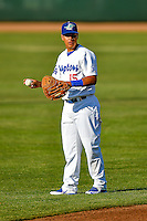 Luis Paz (15) of the Ogden Raptors before the game against the Orem Owlz in Pioneer League action at Lindquist Field on June 27, 2016 in Ogden, Utah. Orem defeated Ogden 4-3.  (Stephen Smith/Four Seam Images)