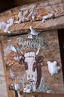 Europe/France/Rhone-Alpes/73/Savoie/  Saint-Martin-de-Belleville: La Bouitte au hameau de Saint Marcel- détail d'une porte d'une chambre