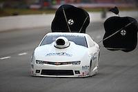 May 15, 2015; Commerce, GA, USA; NHRA pro stock driver Rodger Brogdon during qualifying for the Southern Nationals at Atlanta Dragway. Mandatory Credit: Mark J. Rebilas-USA TODAY Sports