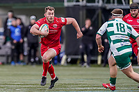 Max Argyle of Jersey Reds during the Championship Cup QF match between Ealing Trailfinders and Jersey Reds at Castle Bar, West Ealing, England  on 22 February 2020. Photo by David Horn.