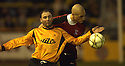 07/01/2006         Copyright Pic: James Stewart.File Name : sct_jspa10_alloa_v_livingston.ROSS HAMILTON AND HAROLD PINXTEN CHALLENGE FOR THE BALL....Payments to :.James Stewart Photo Agency 19 Carronlea Drive, Falkirk. FK2 8DN      Vat Reg No. 607 6932 25.Office     : +44 (0)1324 570906     .Mobile   : +44 (0)7721 416997.Fax         : +44 (0)1324 570906.E-mail  :  jim@jspa.co.uk.If you require further information then contact Jim Stewart on any of the numbers above.........