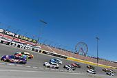 #11: Denny Hamlin, Joe Gibbs Racing, Toyota Camry FedEx Ground and #18: Kyle Busch, Joe Gibbs Racing, Toyota Camry M&M's