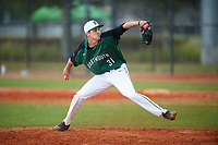 Dartmouth Big Green relief pitcher Tyler Fagler (31) delivers a pitch during a game against the Southern Maine Huskies on March 23, 2017 at Lake Myrtle Park in Auburndale, Florida.  Dartmouth defeated Southern Maine 9-1.  (Mike Janes/Four Seam Images)