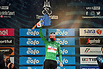 Race leader Tadej Pogacar (SLO) UAE Team Emirates also retains the mountains Maglia Verde at the end of Stage 5 of Tirreno-Adriatico Eolo 2021, running 205km from Castellalto to Castelfidardo, Italy. 14th March 2021. <br /> Photo: LaPresse/Gian Mattia D'Alberto   Cyclefile<br /> <br /> All photos usage must carry mandatory copyright credit (© Cyclefile   LaPresse/Gian Mattia D'Alberto)