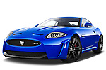 Low aggressive front three quarter view of a 2012 Jaguar XKR-S Coupe .
