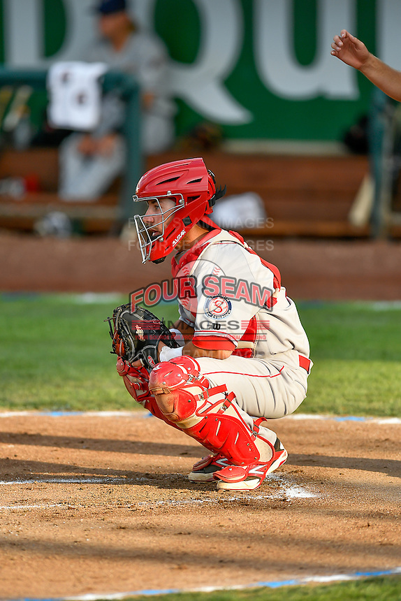 Northwest League All-Star Seth Spivey (6) of the Spokane Indians during the game against the Pioneer League All-Stars at the 2nd Annual Northwest League-Pioneer League All-Star Game at Lindquist Field on August 2, 2016 in Ogden, Utah. The Northwest League defeated the Pioneer League 11-5.(Stephen Smith/Four Seam Images)