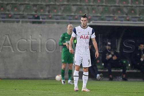 5th November 2020; RAZGRAD, BULGARIA; UEFA Europa League football, group stages;  Ludogorets Razgrad versus Tottenham Hotspur;  Gareth Bale of Tottenham reacts