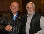 Shawn Estes's Douglas High baseball coach Hal Wheeler and Dave Taylor during the 35th Annual Bobby Dolan Baseball Dinner in the Reno Ballroom on Thursday, January 17, 2019.
