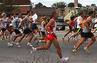 5K race in Park Ridge, Illinois early autumn 2010. Park Ridge is a suburb just to the northwest of Chicago.