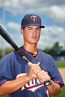 GCL Twins third baseman Jose Miranda (30) poses for a photo after a game against the GCL Orioles on August 11, 2016 at the Ed Smith Stadium in Sarasota, Florida.  GCL Twins defeated GCL Orioles 4-3.  (Mike Janes/Four Seam Images)