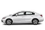 Driver side profile view of a .  2013 Honda Civic Sedan EX Sedan