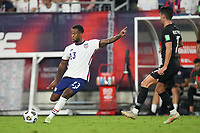 NASHVILLE, TN - SEPTEMBER 5: Kellyn Acosta #23 of the USMNT during a game between Canada and USMNT at Nissan Stadium on September 5, 2021 in Nashville, Tennessee.