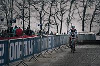 Katie Compton (USA/KFC Racing p/b Trek/Panache) post-race<br /> <br /> Women's race<br /> UCI CX World Cup Namur / Belgium 2017