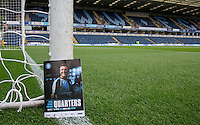 Garry Thompson of Wycombe Wanderers graces the cover of the 1st round Capital Cup Programme during the Capital One Cup match between Wycombe Wanderers and Fulham at Adams Park, High Wycombe, England on 11 August 2015. Photo by Andy Rowland.