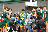 The Wyong Roos play Terrigal Sharks in Round 5 of the First Grade Central Coast Rugby League Division at Morry Breen Oval on 5th of May, 2019 in Kanwal, NSW Australia. (Photo by Paul Barkley/LookPro)