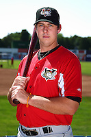 Tri-City ValleyCats third baseman Matt Duffy #40 poses for a photo before a game against the Batavia Muckdogs at Dwyer Stadium on July 15, 2011 in Batavia, New York.  Batavia defeated Tri-City 4-3.  (Mike Janes/Four Seam Images)