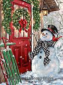 Dona Gelsinger, CHRISTMAS SANTA, SNOWMAN, WEIHNACHTSMÄNNER, SCHNEEMÄNNER, PAPÁ NOEL, MUÑECOS DE NIEVE, paintings+++++,USGE2006,#x#