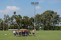 Los Angeles, CA - August 27, 2018:  The USWNT trains with the assistance of the High Performance Department staff.
