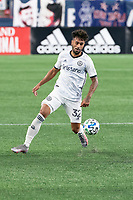 FOXBOROUGH, UNITED STATES - AUGUST 20: Matt Real #32 of Philadelphia Union during a game between Philadelphia Union and New England Revolution at Gilette on August 20, 2020 in Foxborough, Massachusetts.