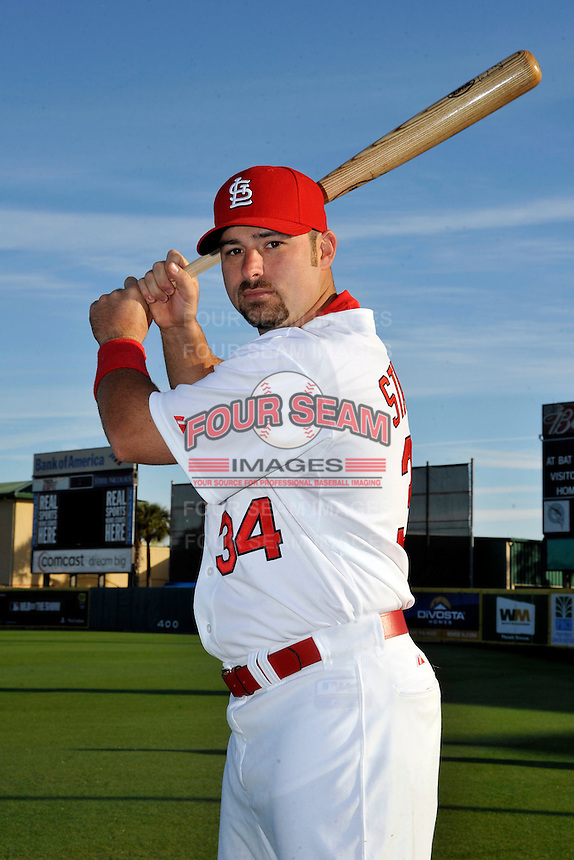 Mar 01, 2010; Jupiter, FL, USA; St. Louis Cardinals outfielder Nick Stavinoha (34) during  photoday at Roger Dean Stadium. Mandatory Credit: Tomasso De Rosa/ Four Seam Images
