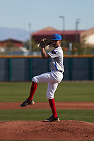 Robbie Tillman (10) of Columbus High School in Columbus, Georgia during the Baseball Factory All-America Pre-Season Tournament, powered by Under Armour, on January 14, 2018 at Sloan Park Complex in Mesa, Arizona.  (Freek Bouw/Four Seam Images)