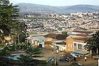 Rwanda. Kigali province. Kigali. Downtown. Town center. Real estate. daily life. Traffic. © 2007 Didier Ruef