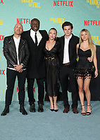 LOS ANGELES, CA - OCTOBER 13: Seal, Laura Strayer, Aris Rechevski, Leni Olumi Klum, at the Special Screening Of The Harder They Fall at The Shrine in Los Angeles, California on October 13, 2021. Credit: Faye Sadou/MediaPunch