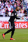 Goalkeeper Amer Shafi of Jordan reacts during the AFC Asian Cup UAE 2019 Round of 16 match between Jordan (JOR) and Vietnam (VIE) at Al Maktoum Stadium on 20 January 2019 in Dubai, United Arab Emirates. Photo by Marcio Rodrigo Machado / Power Sport Images