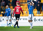 St Johnstone v Kilmarnock…24.11.18…   McDiarmid Park    SPFL<br />Matty Kennedy holds his head after mssing a first half chance<br />Picture by Graeme Hart. <br />Copyright Perthshire Picture Agency<br />Tel: 01738 623350  Mobile: 07990 594431