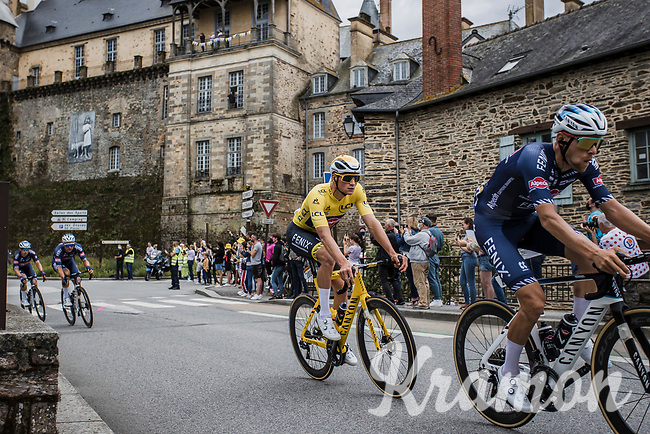yellow jersey Mathieu van der Poel (NED/Alpecin Fenix)<br /> <br /> Stage 4 from Redon to Fougéres (150.4km)<br /> 108th Tour de France 2021 (2.UWT)<br /> <br /> ©kramon