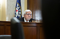 United States Senator Mike Enzi (Republican of Wyoming) listens during a United States Senate Committee on the Budget hearing on Capitol Hill in Washington D.C., U.S., on Wednesday, June 3, 2020.  Credit: Stefani Reynolds / CNP/AdMedia