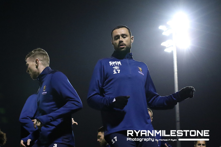 SSE Airtricity League Premier Division,<br /> Cork City vs Waterford FC<br /> Friday 22nd February 2019,<br /> Turners Cross, Co Cork.<br /> Damien Delaney of Waterford during the warm up<br /> Mandatory Credit: Michael P Ryan