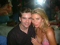 MIAMI BEACH - JULY 29: NASCAR's Jeff Gordon with girlfriend Amanda Church at Prive nightclub in Miami Beach, Florida.   <br /> <br /> <br /> People:  Jeff Gordon_Amanda Church