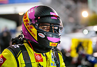 Oct 3, 2020; Madison, Illinois, USA; NHRA funny car driver J.R. Todd during qualifying for the Midwest Nationals at World Wide Technology Raceway. Mandatory Credit: Mark J. Rebilas-USA TODAY Sports