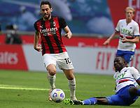 Milano 03-04-2021<br /> Stadio Giuseppe Meazza<br /> Serie A  Tim 2020/21<br /> Milan - Sampdoria<br /> Nella foto:Hakan Calhanoglu                                      <br /> Antonio Saia Kines Milano