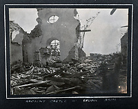 BNPS.co.uk (01202 558833)<br /> Pic: C&T/BNPS<br /> <br /> Demolished castle at 'Seddul Bahr'<br /> <br /> Never before seen photos of the disastrous Gallipoli campaign have come to light over a century later.<br /> <br /> The fascinating snaps were taken by Sub Lieutenant Gilbert Speight who served in the Royal Naval Air Service in World War One.<br /> <br /> They feature in his photo album which covers his eventful war, including a later stint in Egypt.<br /> <br /> There are dramatic photos of the Allies landing at X Beach, as well as sobering images of a mass funeral following the death of 17 Brits. Another harrowing image shows bodies lined up in a mass grave.<br /> <br /> The album, which also shows troops during rare moments of relaxation away from the heat of battle, has emerged for sale with C & T Auctions, of Ashford, Kent. It is expected to fetch £1,500.