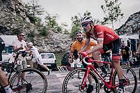 Markel Irizar (ESP/Trek-Segafredo) cheered up the final climb to Pratonevoso<br /> <br /> stage 18: Abbiategrasso - Pratonevoso (196km)<br /> 101th Giro d'Italia 2018