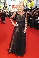 Charlize Theron sur le tapis rouge pour la soirée dans le cadre de la journée anniversaire de la 70e édition du Festival du Film à Cannes, Palais des Festivals et des Congres, Cannes, Sud de la France, mardi 23 mai 2017.