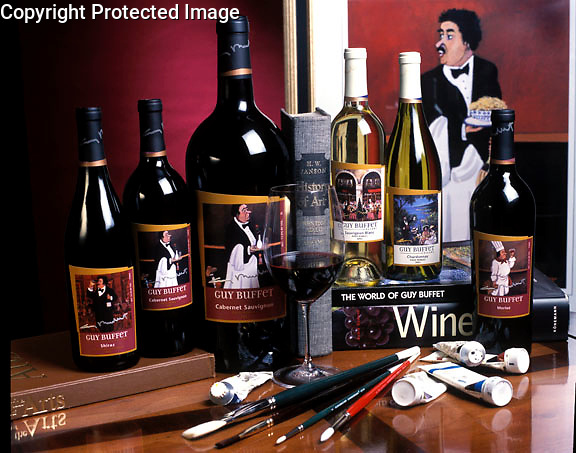"""""""Guy Buffet Cellars""""<br /> 5 Different Wine Labels by Guy Buffet<br /> No longer available."""