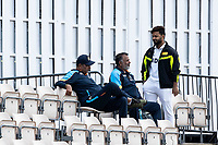 Rishabh Pant, India in conversation with Ravi Shastri during a training session ahead of the ICC World Test Championship Final at the Ageas Bowl on 17th June 2021